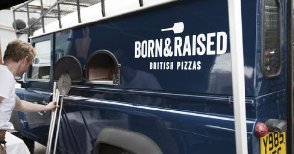 Wood Fired Pizza Oven In A Land Rover Defender By Born Raised Fire Pizza Wedding Food Pizza Oven