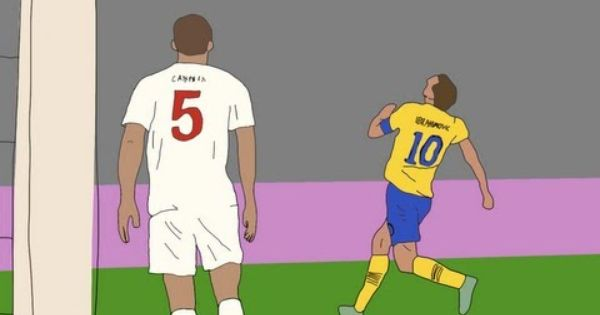 Goal Zlatan Ibrahimovic Sweden Vs England Animated With Images