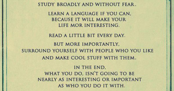 John Green is the king of good advice!