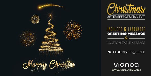 Christmas After Effects Template Christmas Tree Celebration Download Https Videohive Net After Effects Templates After Effects Projects After Effects