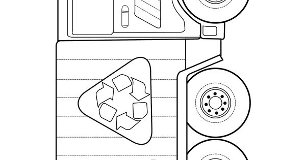 Garbage truck - Coloring pages for kids, grbtrck ...