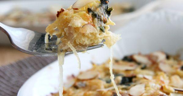 Spaghetti Squash N' Greens Gratin | Squashes, Spaghetti Squash and ...