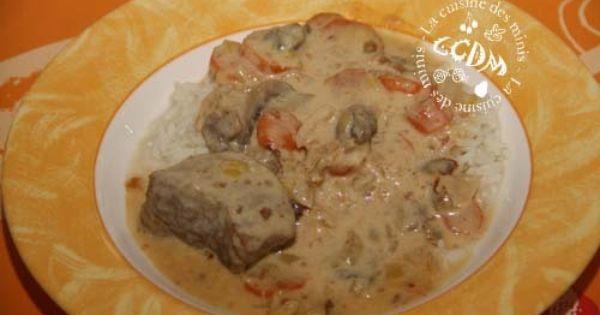Blanquette de veau cook o cookeo pinterest thermomix balises et recette - Cuisiner la blanquette de veau ...