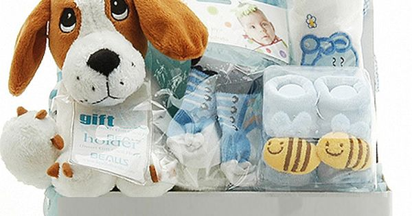Baby Gift Ideas Melbourne : Puppy baby hamper for boys baskets and hampers