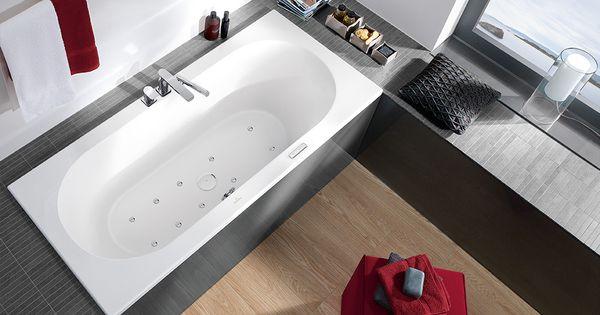 Villeroy boch whirlpool baden baden vrijstaand en inbouw pinterest sinks and kitchens - Tub onder dak ...
