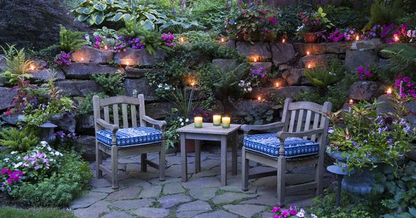 Garden at twilight