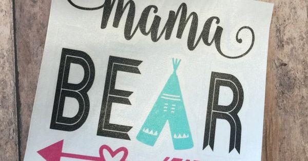 mama bear decal  womens yeti decals  mama bear yeti decal  car window decal  vinyl sticker