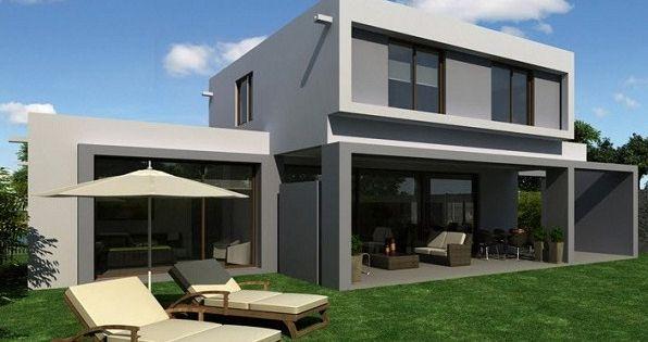 Modelo de casa minimalista de dos plantas saj t for Casa minimalista pinterest