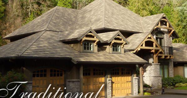 Decra Shake Xd Antique Chestnut Installed Metal Roof Grey Exterior Roofing