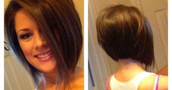 Angled stacked Haircut!