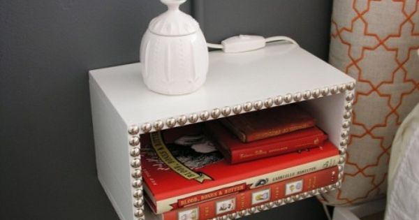 floating nightstand. You'll need wood, 1″ L-brackets, wood glue, small finishing nails,