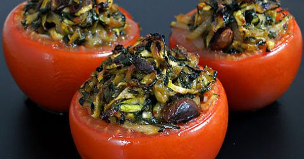 An easy stuffed tomato recipe- cook a large bag of mixed veggies