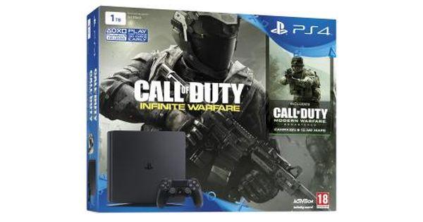 Genial Console Sony Ps4 1 To Slim Noir Call Of Duty Infinite Warfare Modern Warfare En T 233 L 233 Chargement Chez Fnac