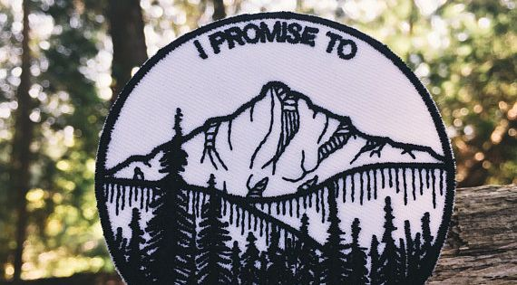Mountain Patch Iron On Nature Patch Wilderness Patch Stay Wild Backpack Patches Cute Patches
