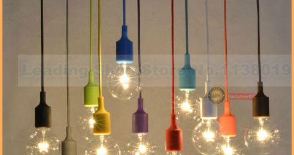 Pas cher nouveau design e27 lampe prise chandelier luminaire suspendu ligne d - Cable suspendu luminaire ...