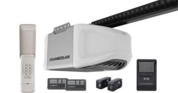 Chamberlain Premium 1 2 Hp Chain Drive Garage Door Opener With Myq Technology Hd420ev Chamberlain Garage Door Opener Best Garage Door Opener Garage Door Opener