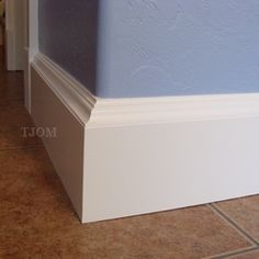 Squared Baseboards On A Rounded Wall I Like It This Page Includes A Tutorial As Well Baseboard Styles Moldings And Trim Baseboards
