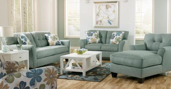 This ashley kylee lagoon living room set 66400 provides for Ashley kylee chaise