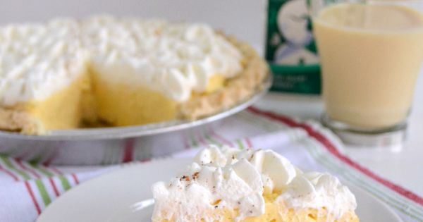 Eggnog pie, Pies and Cream pies on Pinterest