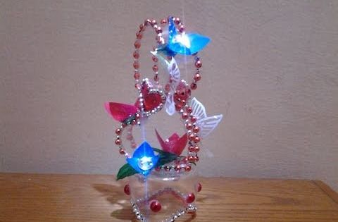 Best out of waste plastic bottle transformed to lovely for Best out of waste items