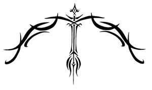 Bow And Arrow Sagittarius Tribal Tattoo Sagittarius Tattoo Arrow Tattoos Zodiac Tattoos