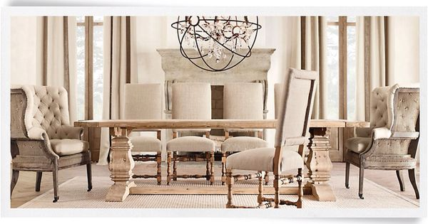 Dining room restoration hardware for the home for Who manufactures restoration hardware furniture
