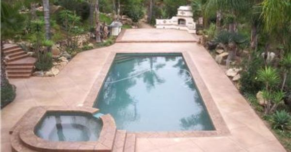 stamped concrete pool deck with acid staining. | stamp concrete