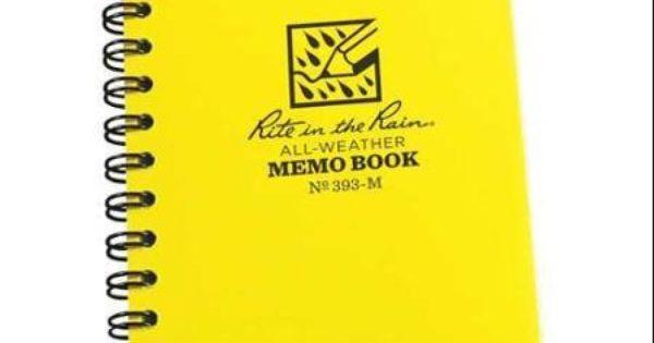 "RITE IN THE RAIN 393-M Spiral NotebookJournal503-1/4 x 5"" | nursing ..."