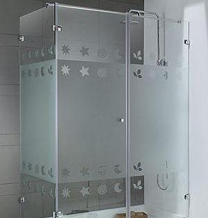 Modelos de puertas en cristal templado para - Cristales para banos ...