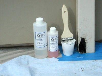 Wood Rot Repair Using Expansion Foam And Wood Epoxy Wood Repair Repair Foam