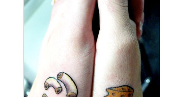 Mac and cheese tattoo i would never do this but it is for Mac tattoo my heart