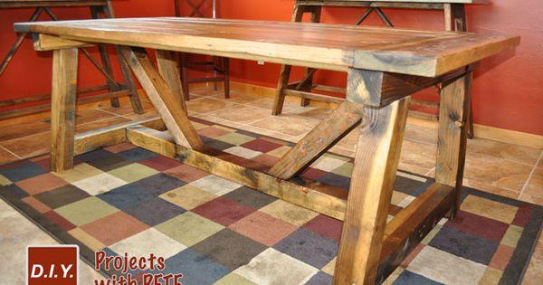 learn how to build a rustic farmhouse table farmhouse. Black Bedroom Furniture Sets. Home Design Ideas