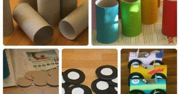 Things to make from toilet paper rolls racing cars for Things to make with toilet paper rolls