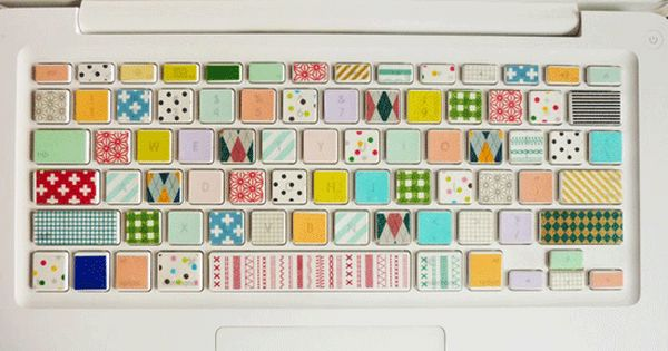washi tape keyboard - dream come true cute pastel laptop keyboard