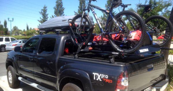 Toyota Tacoma With Yakima Bike Racks And A Thule Cargo Box Car