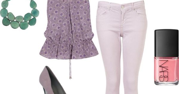 purple, lavender, mint outfit
