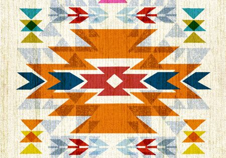 8x10 art print - Native American / Navajo Inspired - Bright, Colorful