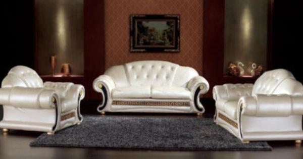 Venus Versace Leather Suite 3 1 1 Complete Suite Italian Design Pendragon Ebay Modern Leather Living Room Furniture Living Room Leather Sofa Design