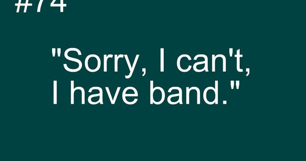 Marching Band Problems... Or just bandgeek problems in general