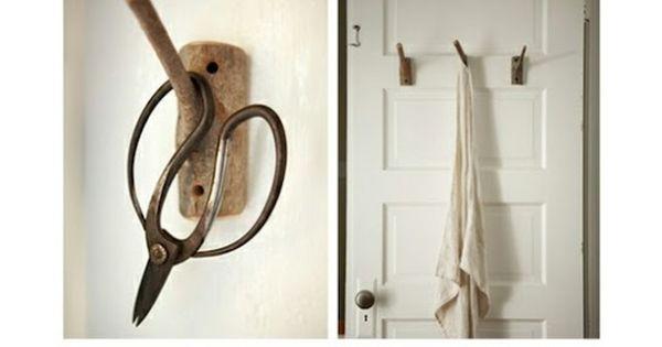 Diy maak van takken handige kapstokken wc ideeen pinterest natuur haken en haken - Origineel toilet idee ...