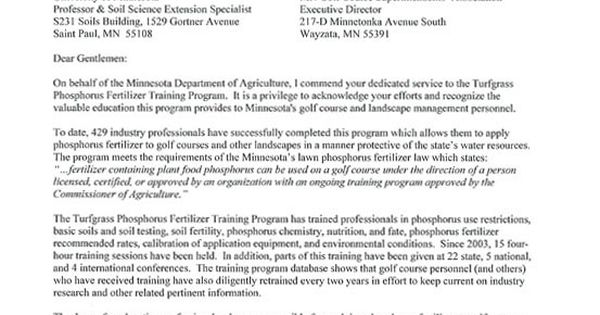 training program yard and garden news university minnesota - appreciation letter to boss