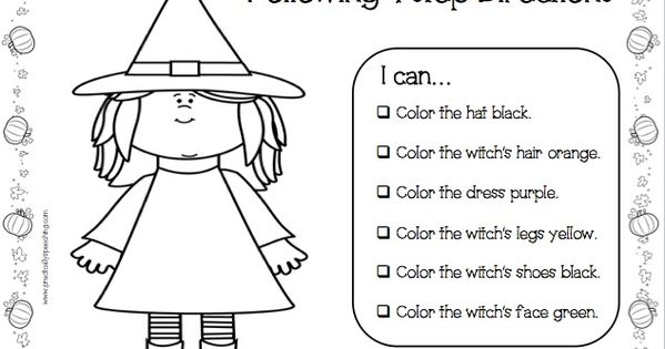 practically speeching halloween following directions print n go packet speech language therapy blog posts pinterest - Halloween Following Directions