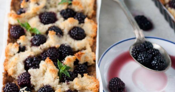 Blackberry coconut tart   Blackberry Dream   Pinterest