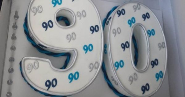 90th Number Male Birthday Cake Adult Birthday