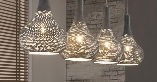 Hanglamp judd 4 lamps kleur grijs meubelpartner stoere lamp lifestyle hanglampen bij - Kleur modern toilet ...