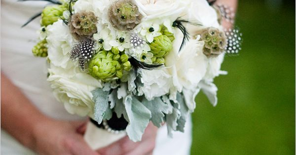 White And Green Wedding Bouquet from Canadian wedding florist Verbena Floral Design.