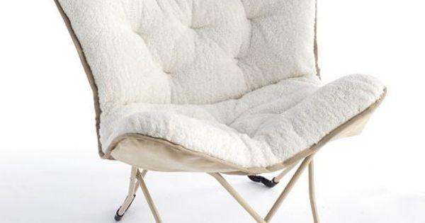 Simple By Design Sherpa Memory Foam Butterfly Chair Kohls