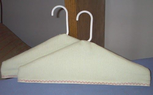 Free Fabric Covered Padded Clothes Hanger Pattern Instructions