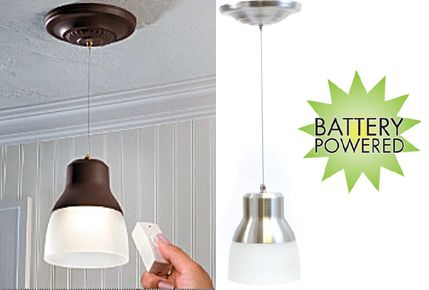 Image Of Wireless Hanging Pendant Lights Battery Operated Lights