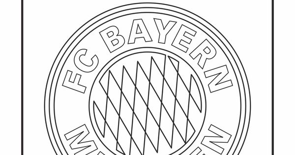 cool coloring pages - soccer club logos / fc bayern